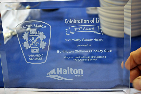 BOHC was honoured to receive a Community Partner Award (an award of recognition from Halton Region Health)